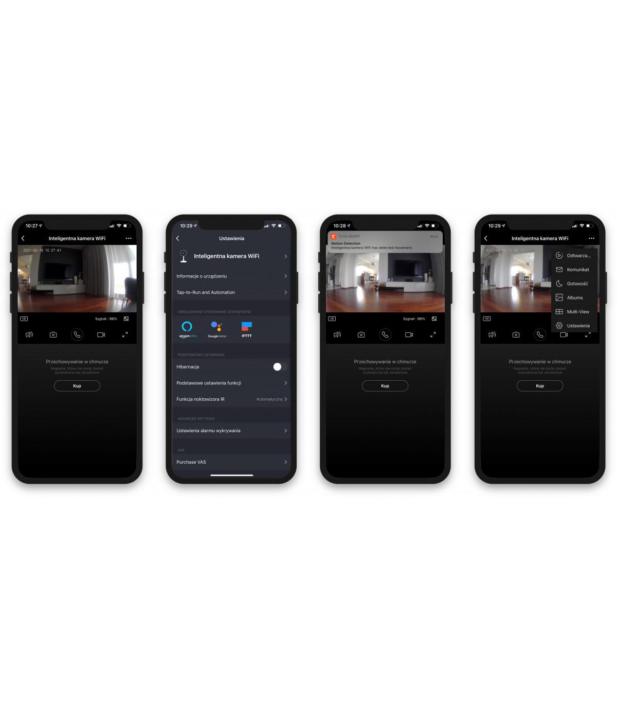 Kamera WiFi z czujnikiem ruchu Tuya
