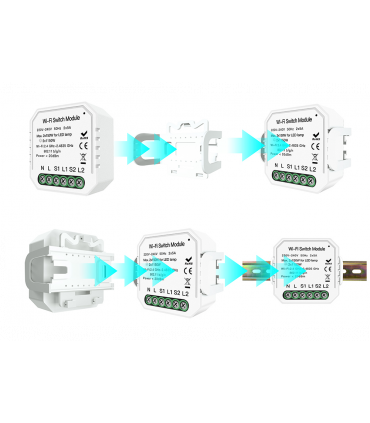Podwójny przekaźnik WiFi TUYA