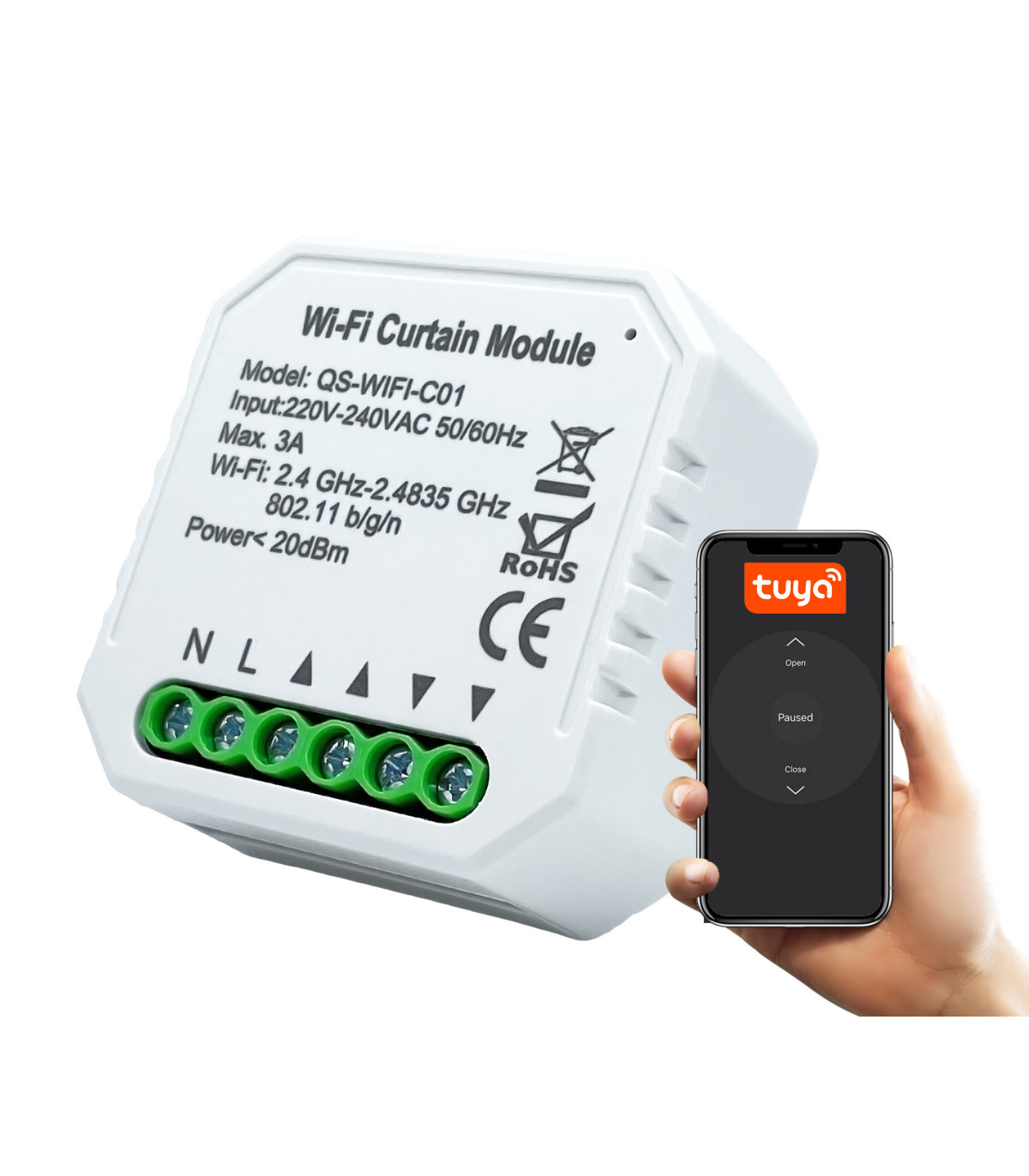 Sterownik rolet tuya wifi smart life