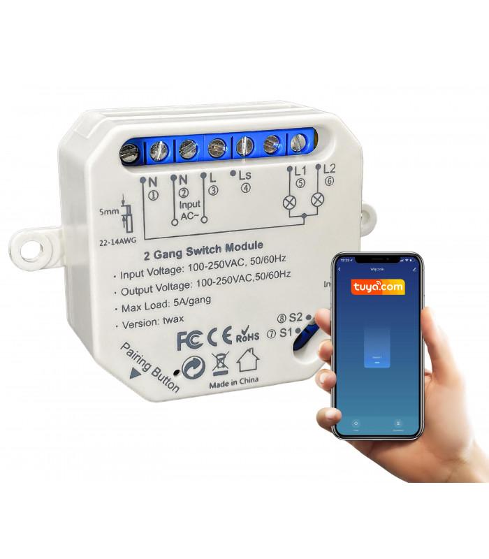Przekaźnik WiFi do puszki TUYA 2500W
