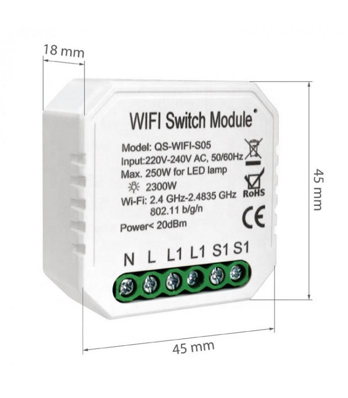 Przekaźnik WiFi z pomiarem prądu 2300W TUYA