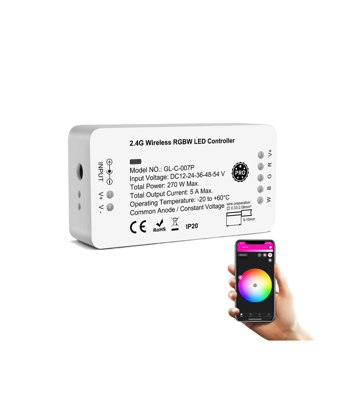 Sterownik ZigBee do pasków LED RGBW Philips Hue Tuya