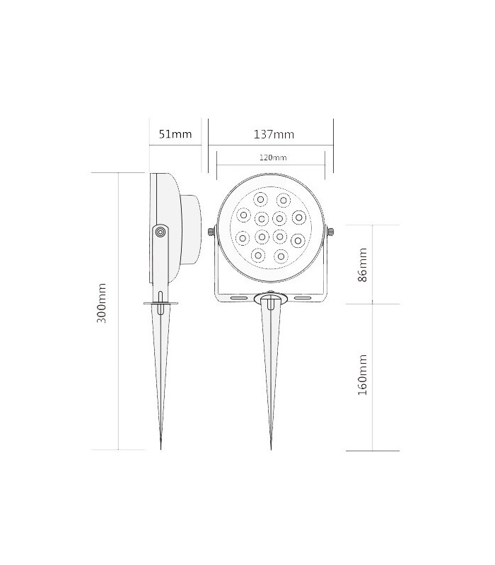 Lampa ogrodowa ZigBee LED RGB CCT Hue