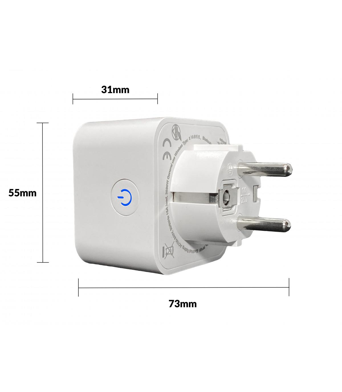 Wtyczka ZigBee TUYA 3500W 16A z pomiarem prądu