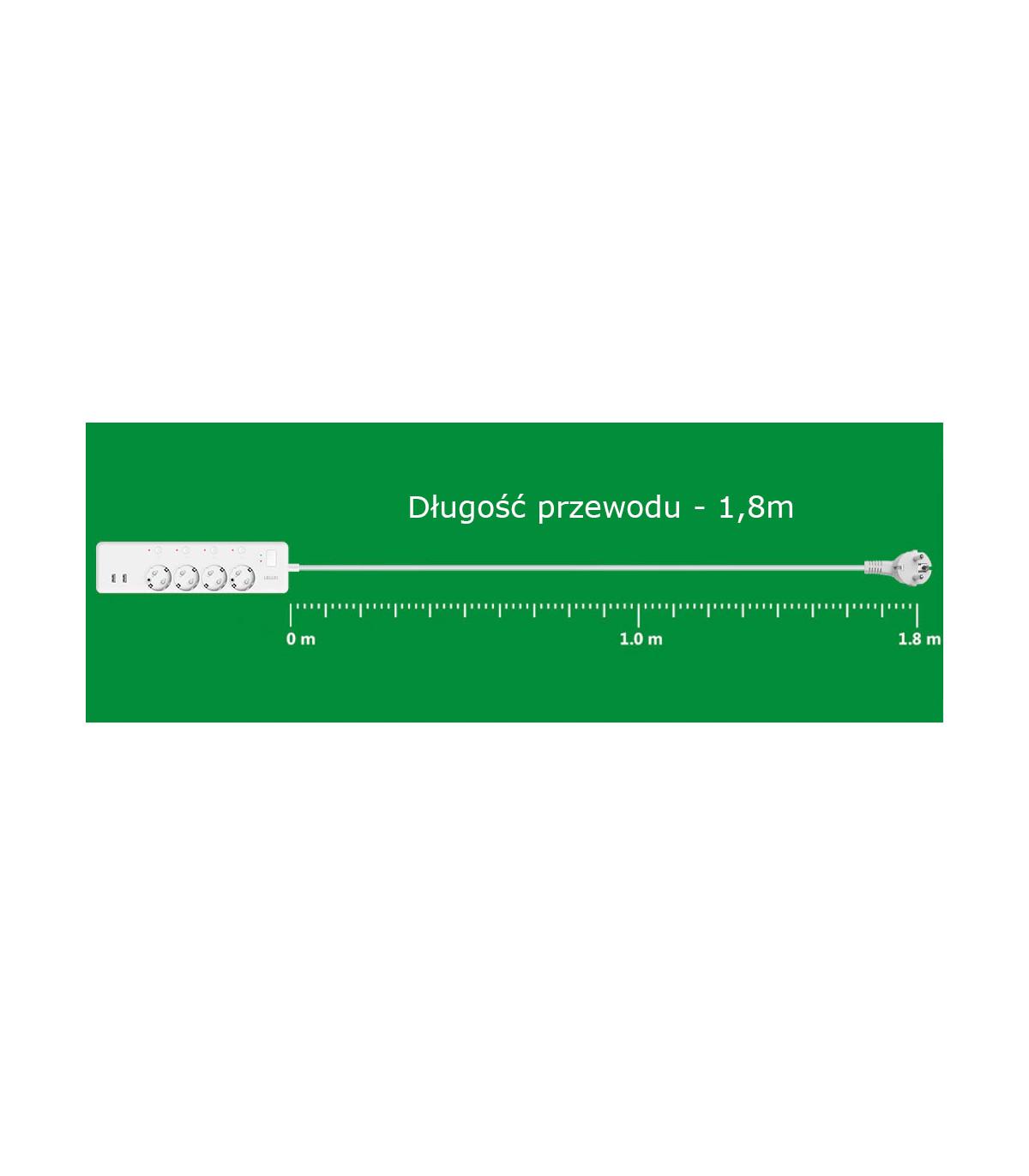 Listwa zasilająca z USB kompatybilna z Philips Hue