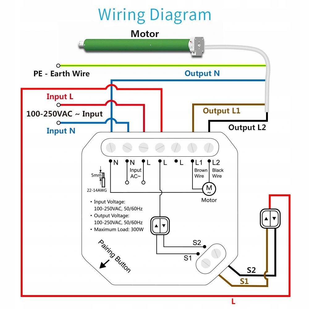 Schemat sterownik do rolet WiFi