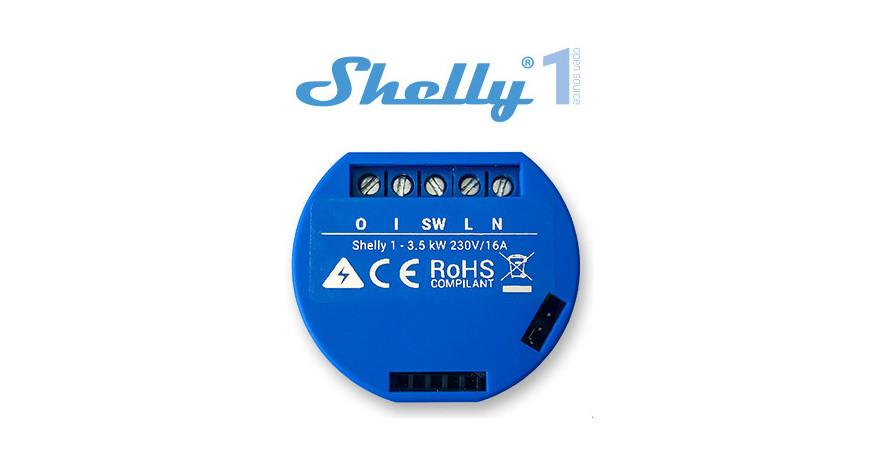Shelly 1 - włącznik WiFi do puszki sterowany smartfonem!
