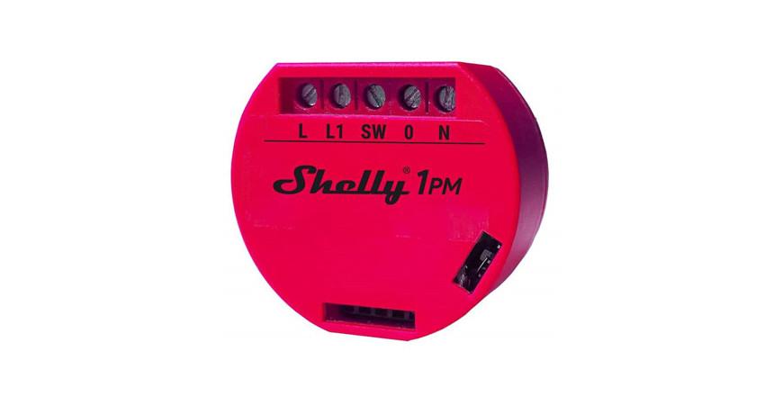 Shelly 1 PM - nowy moduł z pomiarem energii elektrycznej